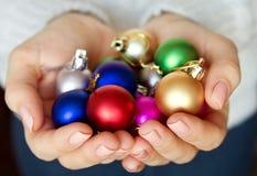 Handvol Nieuw jaarspeelgoed Royalty-vrije Stock Afbeeldingen