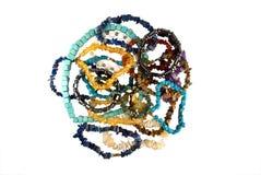 Handvol steenparels Royalty-vrije Stock Foto