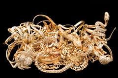 Handvol van goud Stock Afbeeldingen