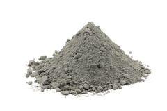 Handvol van grijs cementpoeder Stock Afbeeldingen