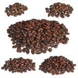 Handvol van koffie Stock Foto