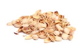 Handvol van pistachesschil royalty-vrije stock foto