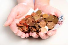 Handvoll Geld Lizenzfreie Stockbilder