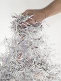 Handvoll Papier Lizenzfreies Stockfoto