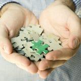 Handvollpuzzlespiel Lizenzfreie Stockbilder