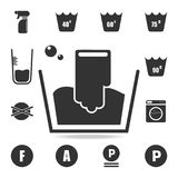 Handwash icon. Detailed set of laundry icons. Premium quality graphic design. One of the collection icons for websites, web design. Mobile app on white royalty free illustration