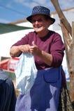 Handwashing clothes Royalty Free Stock Image