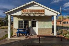 Handweaving Workshop Truchas, New Mexico. OCT 9, 2018. TRUCHAS NEW MEXICO, USA - self portrait of Joe Sohm photographer - Handweaving Workshop Truchas, New royalty free stock photo