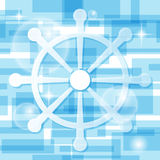 Handweel icon on light-blue background. Vector Stock Images