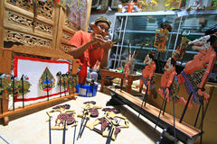 Handwerk Wayang-Marionetten Stockbilder