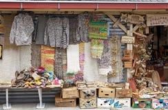 Handwerker angemessen bei Dalcahue, Chiloe-Insel, Chile lizenzfreies stockbild