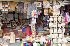 Handwerker angemessen bei Dalcahue, Chiloe-Insel, Chile lizenzfreies stockfoto