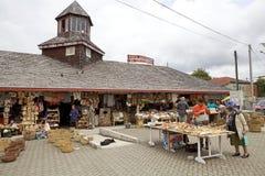 Handwerker angemessen bei Dalcahue, Chiloe-Insel, Chile lizenzfreie stockfotografie