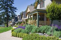 Handwerker-Art-Häuschen-Häuser Lizenzfreies Stockfoto