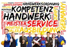 Handwerker in Deutschland-Konzept auf Deutsch lizenzfreie stockfotos