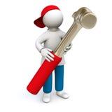 Handwerker mit Hammer stock abbildung