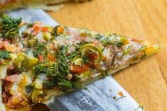 Handwerker-Pizza Stockbild