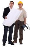 Handwerker und Geschäftsmann Lizenzfreie Stockfotos