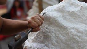 Handwerkerberuf in der Kunstunterrichtfunktion stock video