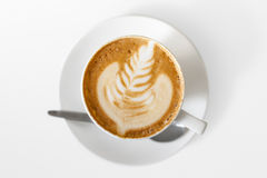 Handwerkerkaffee auf Weiß. Lizenzfreies Stockbild