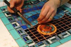 Handwerkerkunstfertigkeit Tiffany-Artbleiglas lizenzfreie stockfotografie