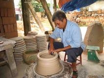 Handwerkerlehm ein Pottingboden Stockfotos