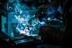 Handwerkerschweißungsstahl Stockfotografie