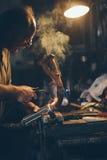 Handwerkerschweißungsstahl Lizenzfreie Stockfotografie