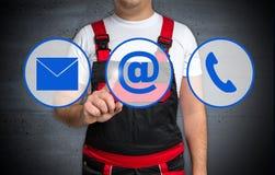 Handwerkershowkontakt-Ikonenkonzept Lizenzfreie Stockbilder