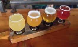 Handwerks-Bier-Beispielprobieren-Flug lizenzfreies stockfoto
