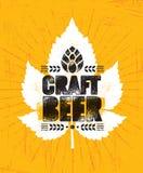 Handwerks-Bier-Brauerei-Handwerker-kreatives Vektor-Stempel-Zeichen-Konzept Raue handgemachte Alkohol-Fahne Menü-Seiten-Gestaltun vektor abbildung