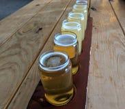 Handwerks-Bier-Probieren-Flug Lizenzfreies Stockfoto