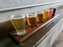 Handwerks-Bier-Probieren-Flug Stockfotografie