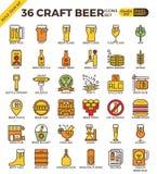 Handwerks-Bierikonen stock abbildung