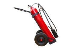 Handwheel of  fire extinguisher isolate on white Stock Images