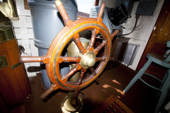Handwheel of the icebreaker Tarmo. Kotka, Finland 16.07.2017. Stock Photo