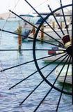 Handwheel yacht club entrance design Royalty Free Stock Photos