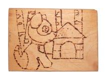 handwork доски горящий вне деревянный Стоковое фото RF