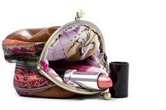 The handwork does Makeup bag Royalty Free Stock Photos
