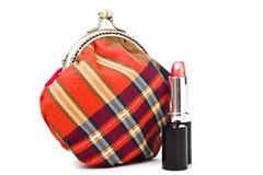 The handwork does Makeup bag Stock Image