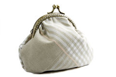 The handwork does Makeup bag(purse) Royalty Free Stock Images