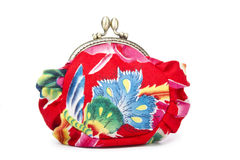 The handwork does Makeup bag��purse�� Royalty Free Stock Image