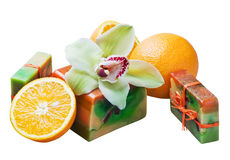 Handwork soap with Royalty Free Stock Image