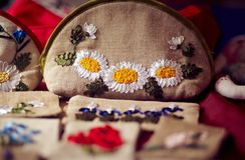 Handwork tkankowe torby Obraz Royalty Free
