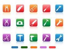 Handwork tools icons button stock illustration