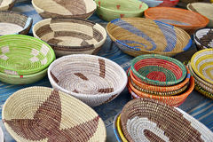 Handwoven Baskets Stock Photos