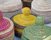 Handwoven Baskets Royalty Free Stock Photography