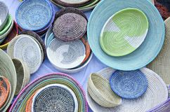 Handwoven Baskets Stock Photography