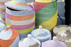 Handwoven Baskets Stock Images