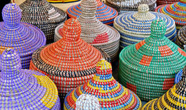 Handwoven Baskets Stock Photo